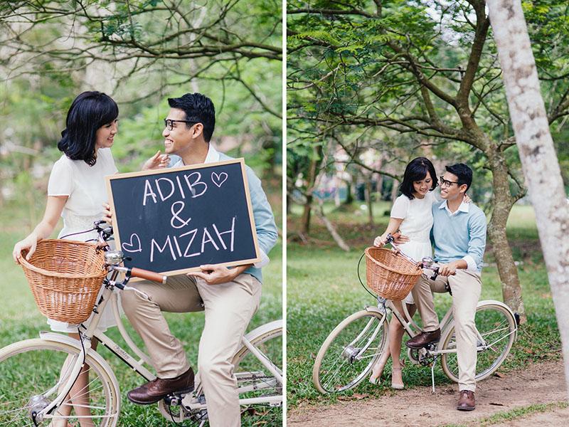 Mizah and Adib's Love-Filled Wedding Under the Trees 9