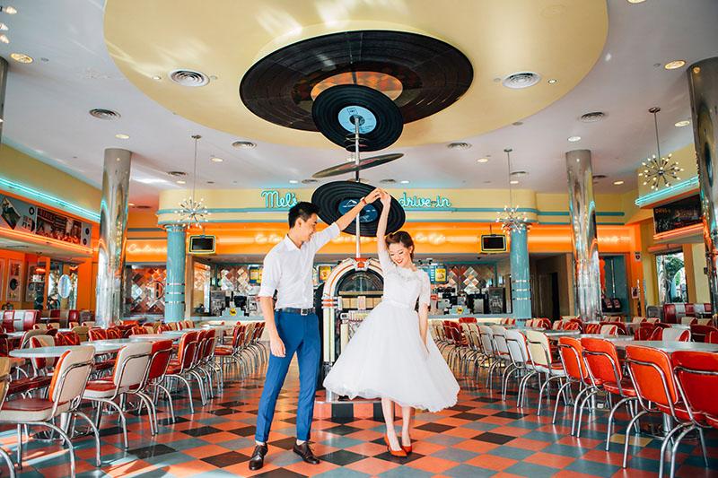 Retro Pre Wedding Shoot Universal Studios Singapore