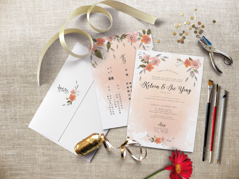 All About Customised Wedding Invitations With Pearlyn and Paper