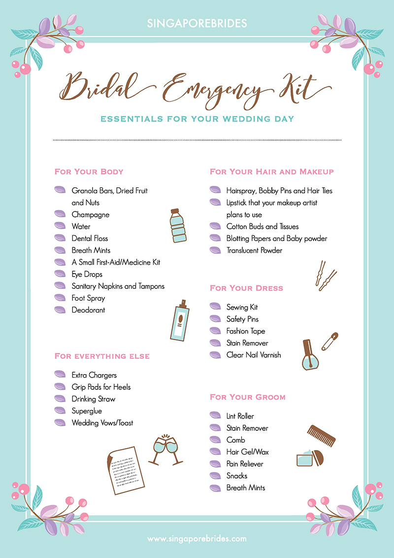 Bridal Emergency Kit By Singaporebrides