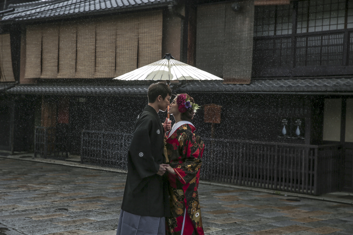 Decollte Wedding Photo Group; pre-wedding shoot; Japan; kimono; yukata
