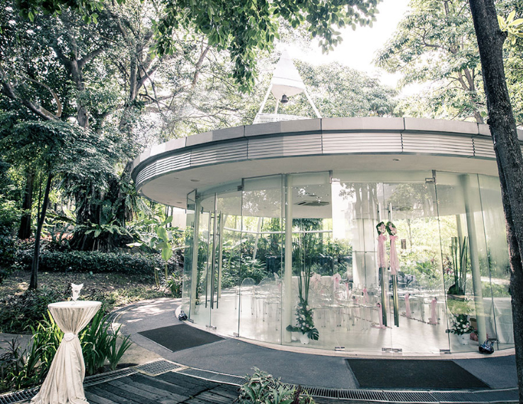 Glass Pavilion Singapore Wedding At Amara Sanctuary Rasa Sentosa