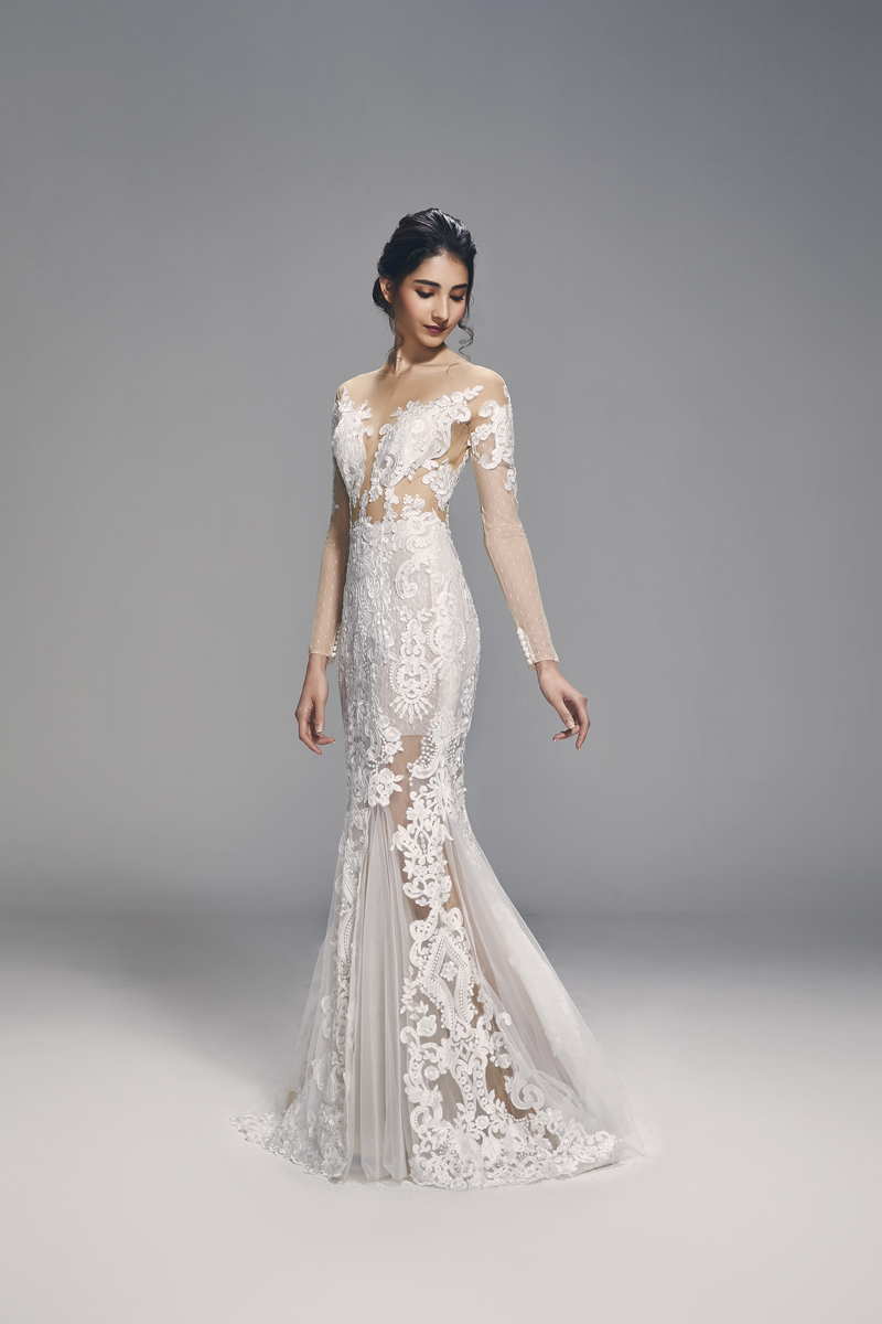 b763540b7bb The see-through nature of these dresses also allow the lace embellishments  on it to pop