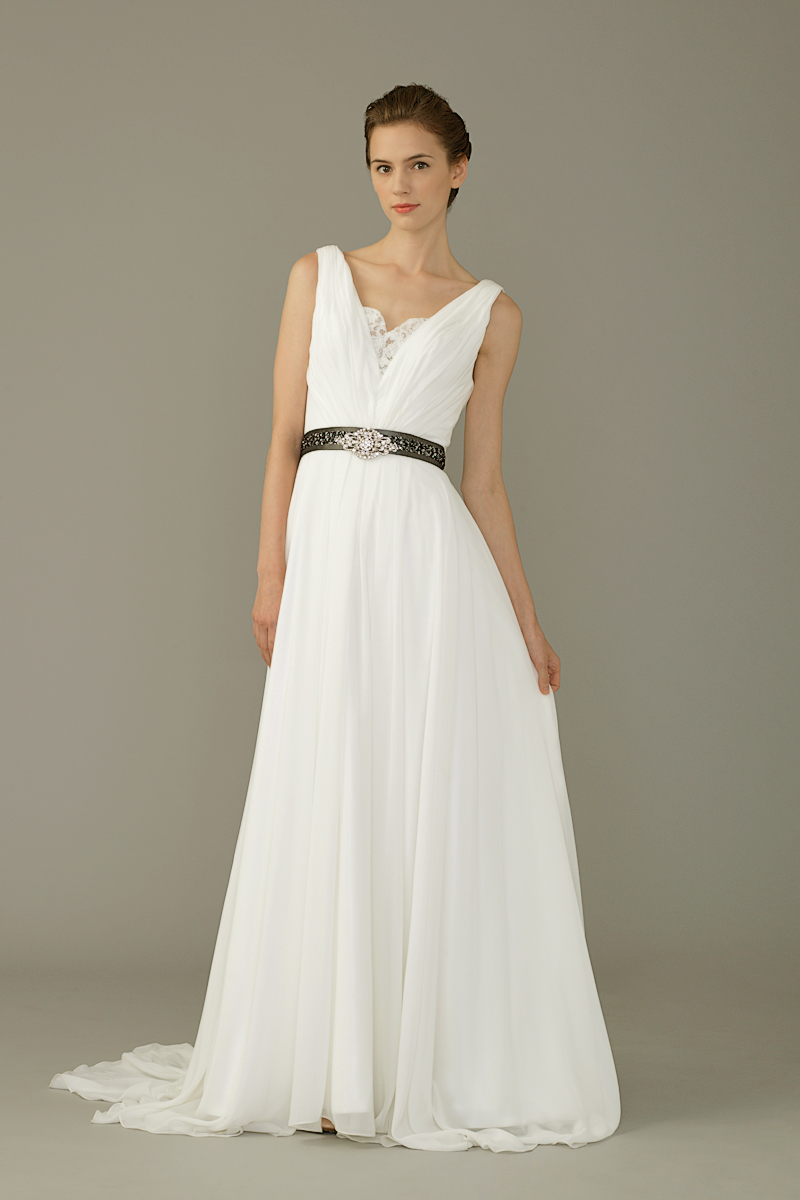 Jawn gown2 white empire vneck chiffon f