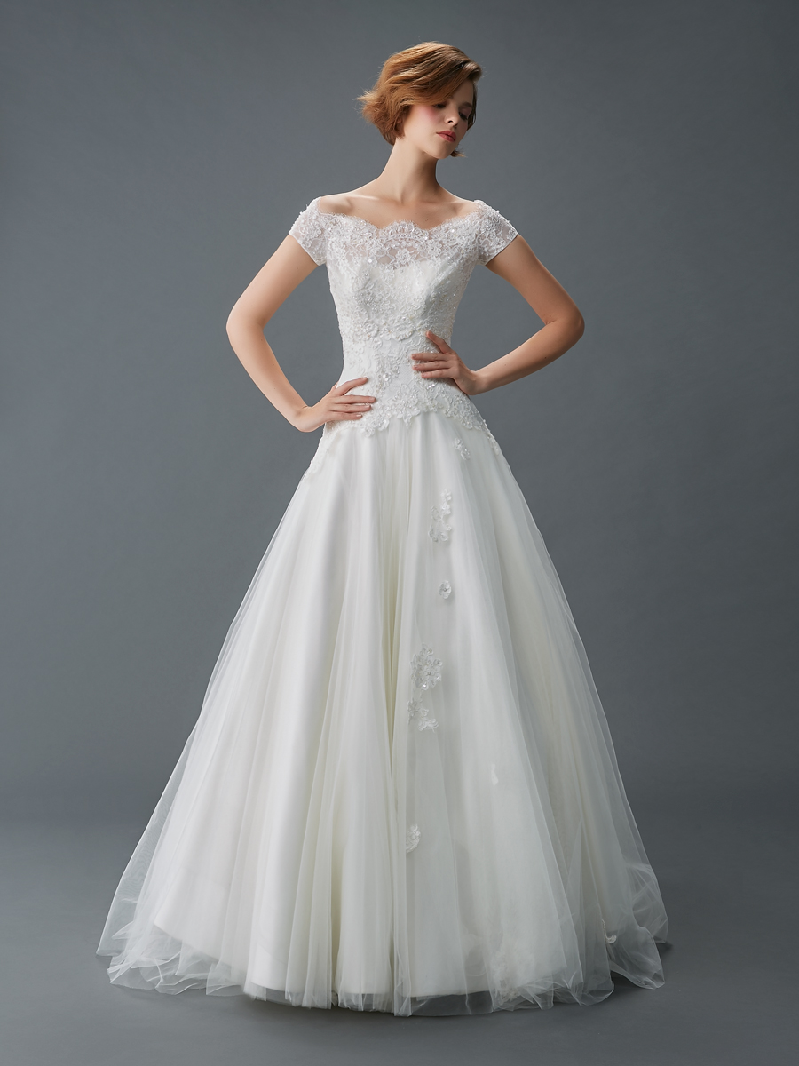 Jawn gown3 white aline scoop tulle f