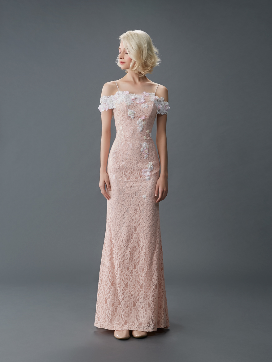 Jawn gown4 pink sheath offshoulder lace f