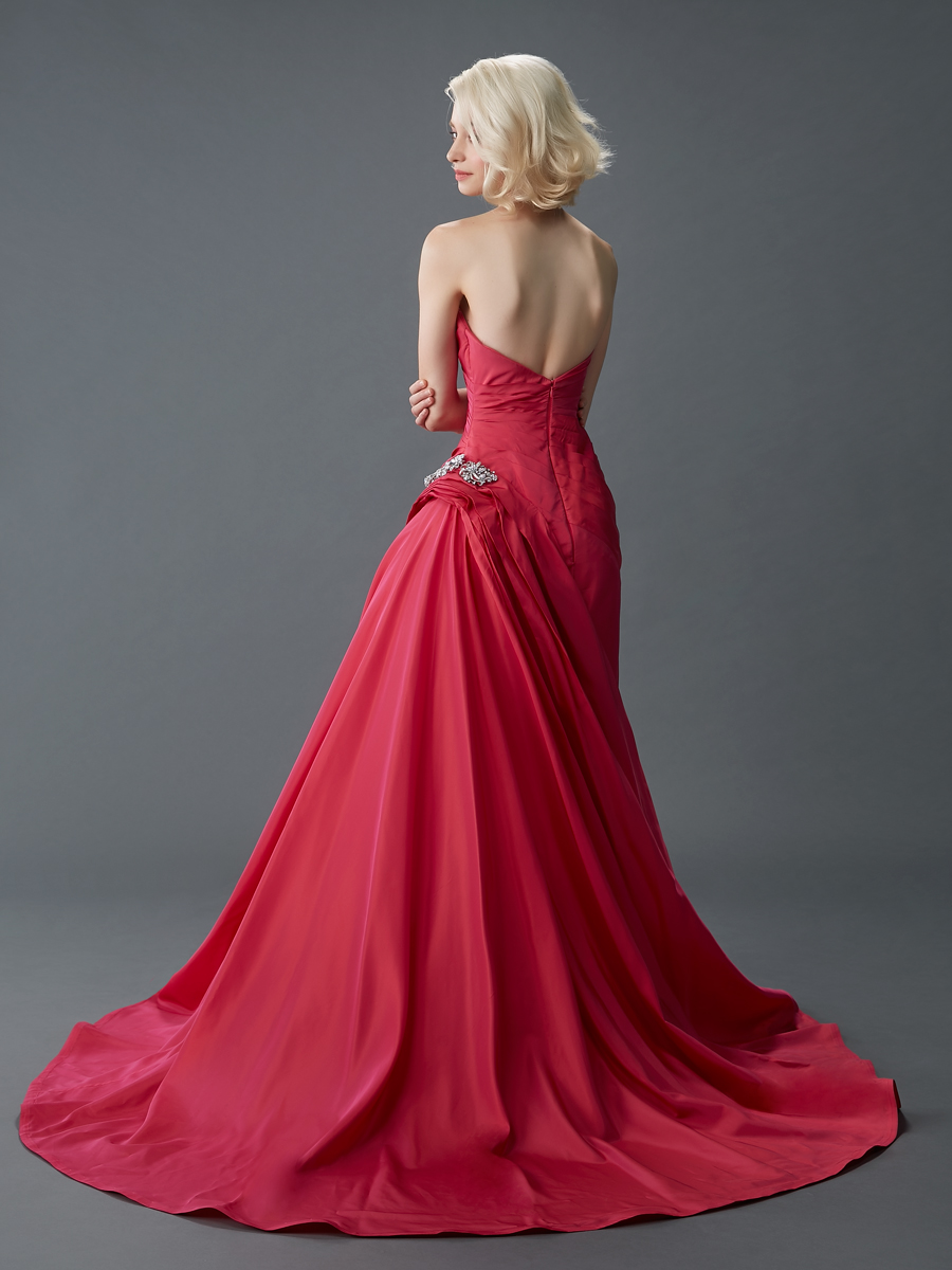 Jawn gown5 red ball sweetheart satin b