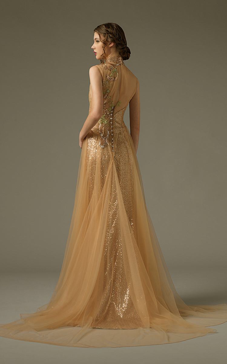 Jawn gown6 champagne sheath highneck sequin b