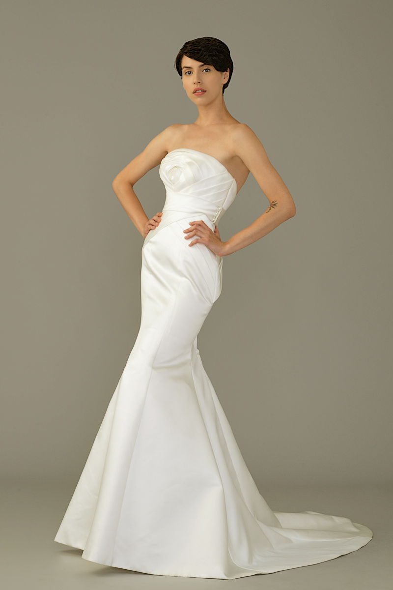 Sil gown2 white trumpet strapless satin f
