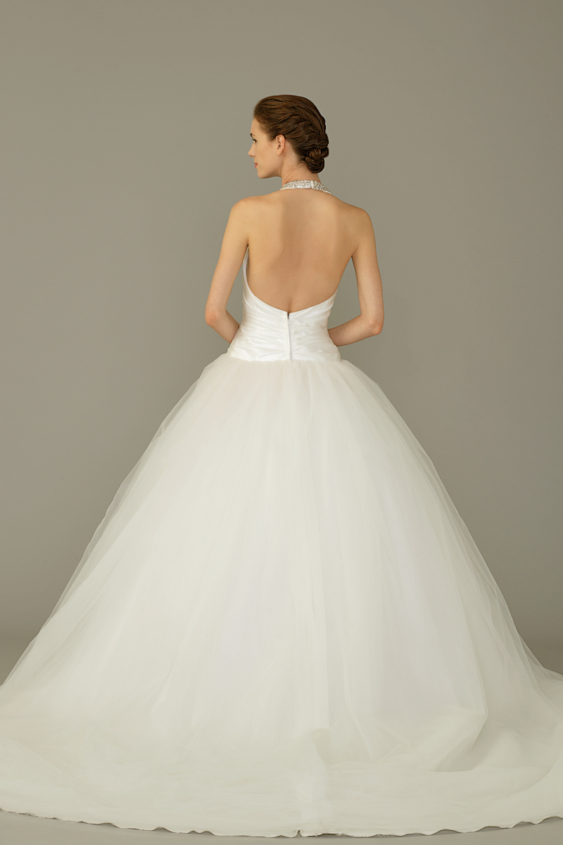Sil gown3 white ball halter tulle b