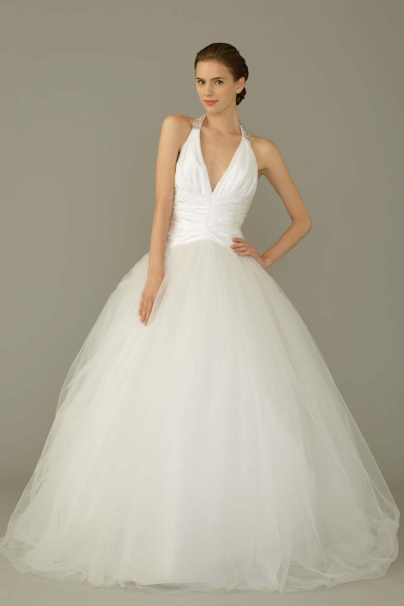 Sil gown3 white ball halter tulle f