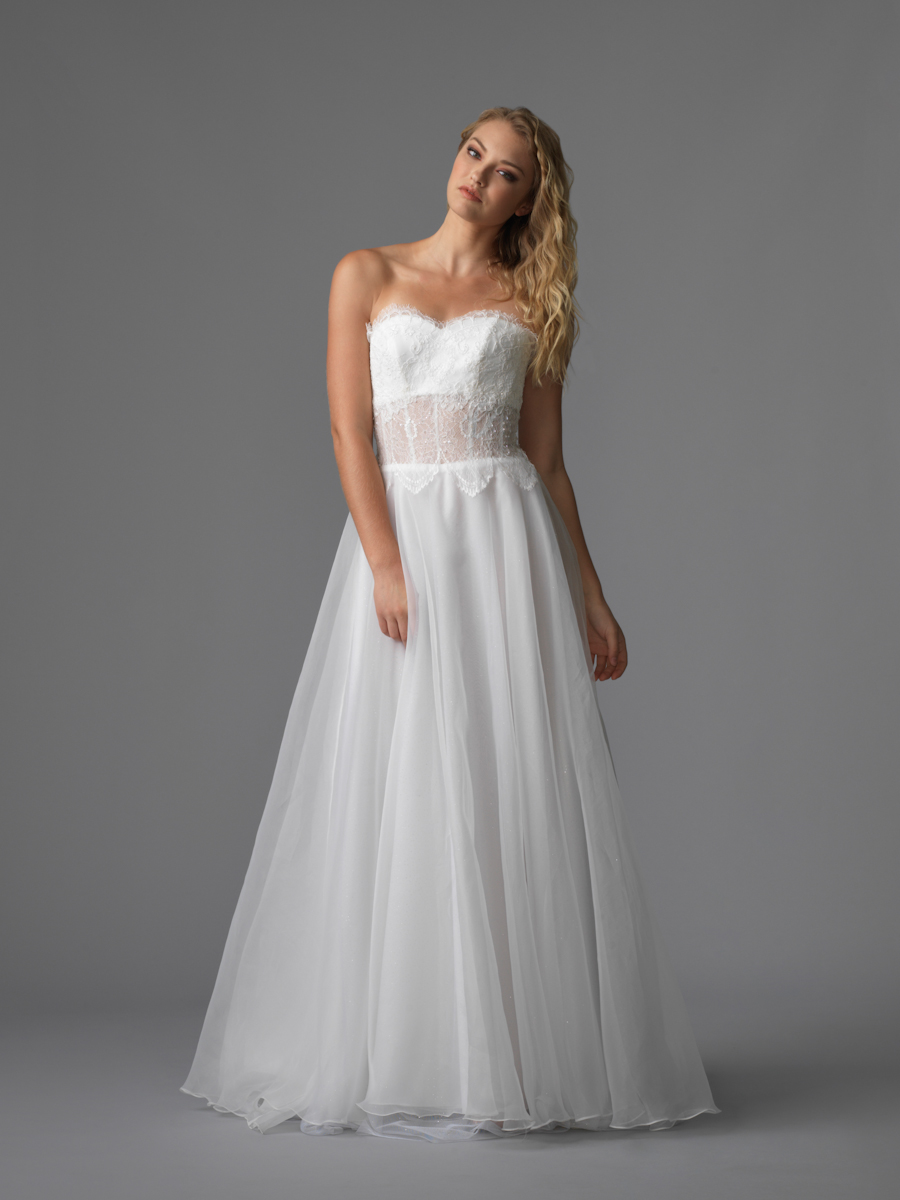 Am gown1 white aline sweetheart lace f