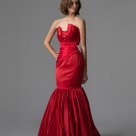 Jess gown4 red mermaid sweetheart satin f