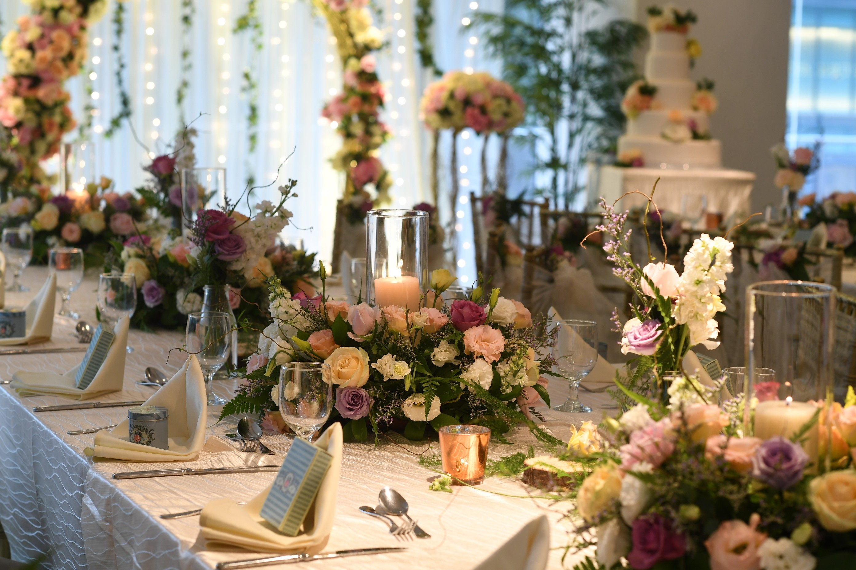 Floral long table setup 2  scotts suite
