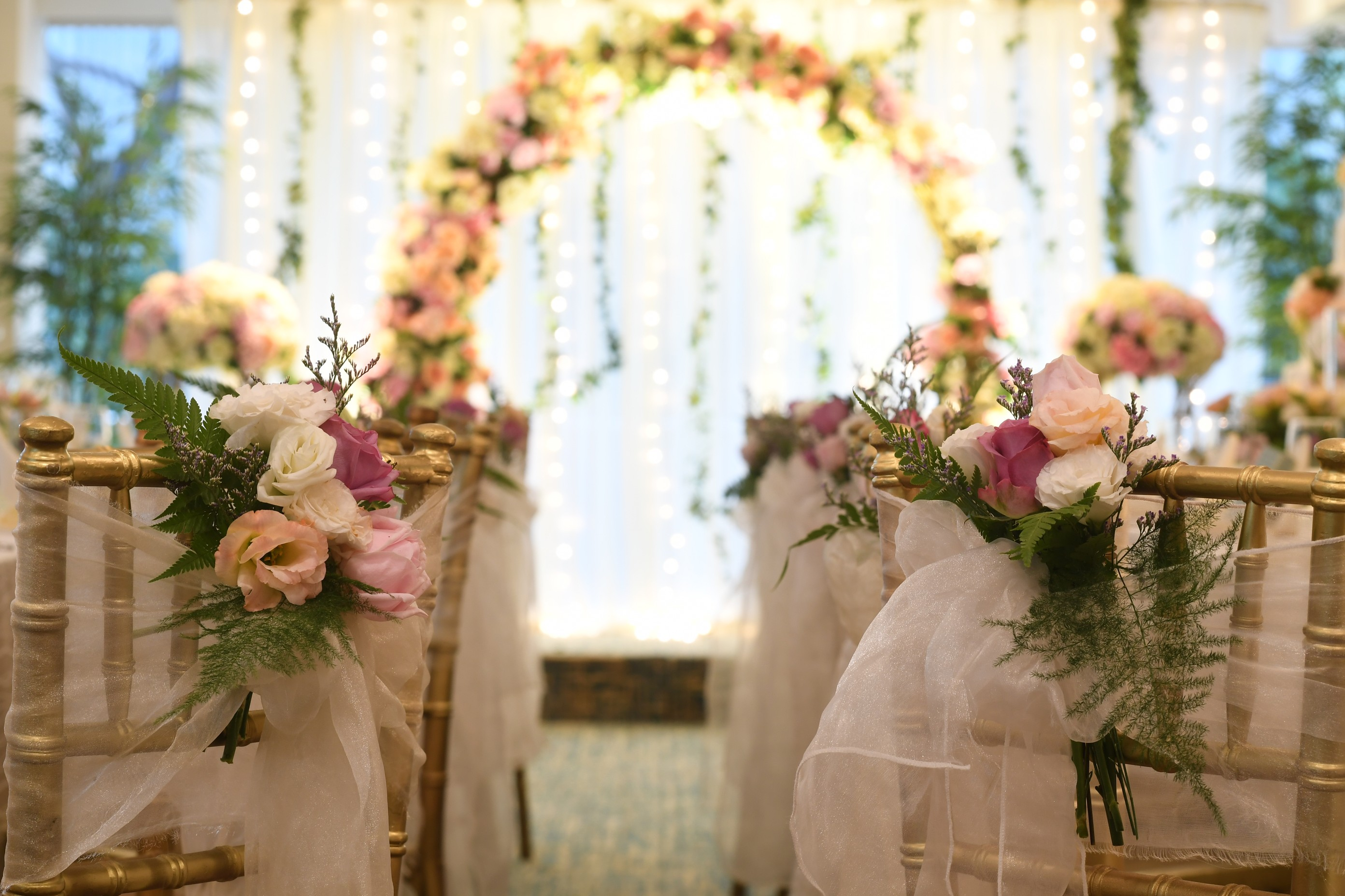 Floral long table setup 3  scotts suite