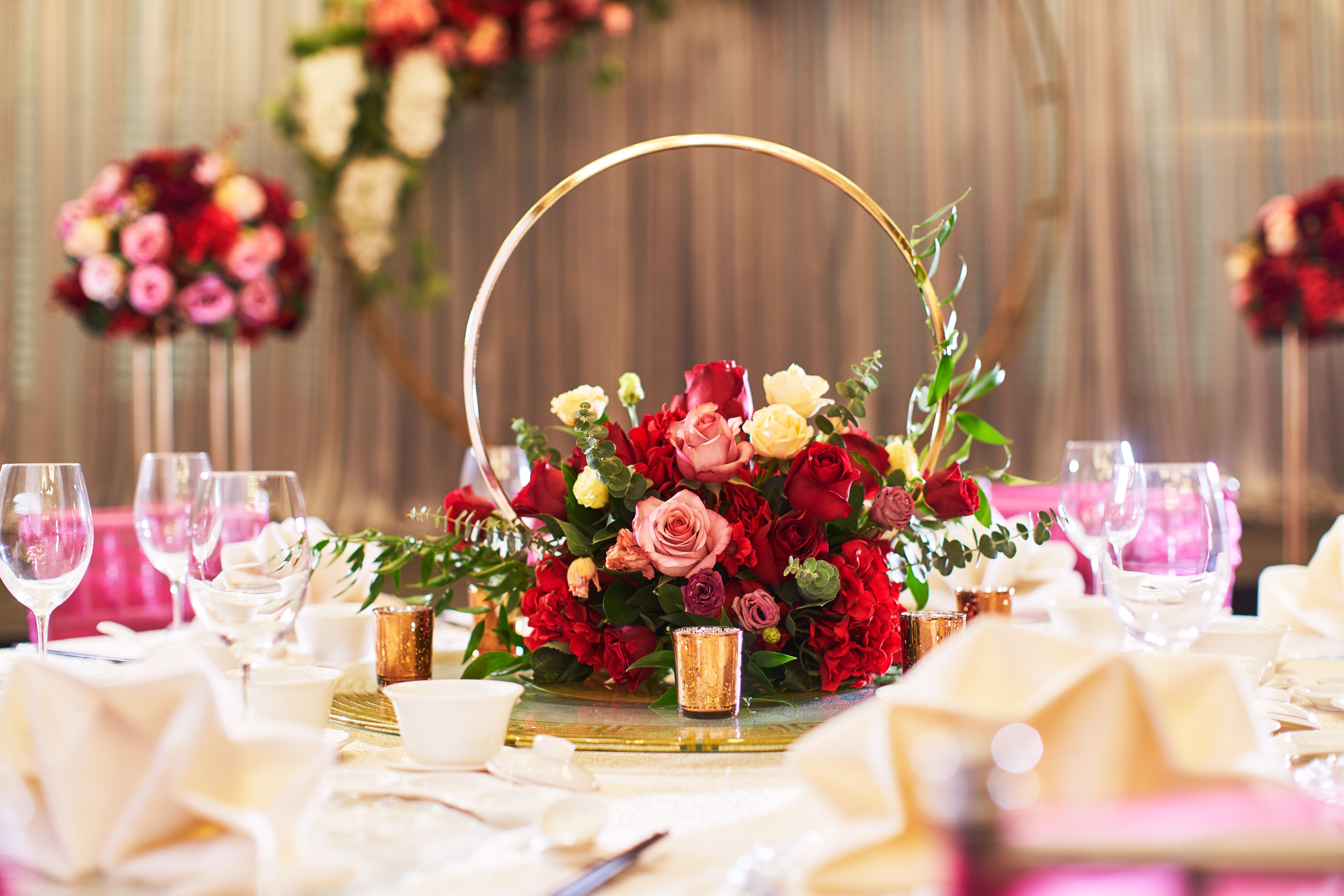 Rendezvous hotel  singapore wedding   ruby romance   vip table %281%29