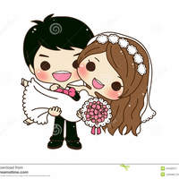 Wedding couple cartoon 2