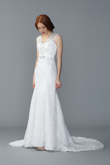 Sheath Gown by Beautiful Love Wedding