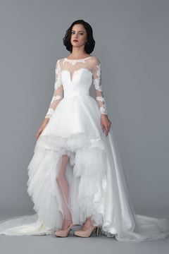 Hi-Low Gown by Yvonne Creative Bridal & Photo Studio