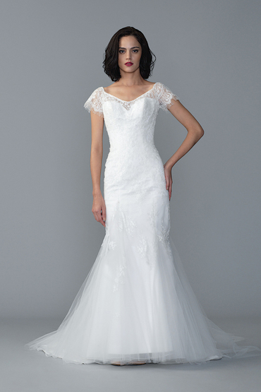 Fit and Flare Gown by Dang Bridal