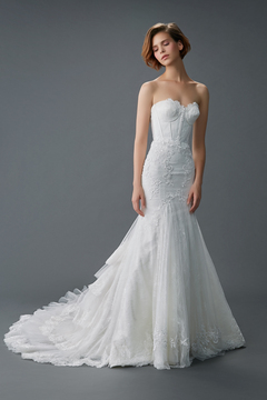 Fit and Flare Gown by Malena Bridal Haute Couture