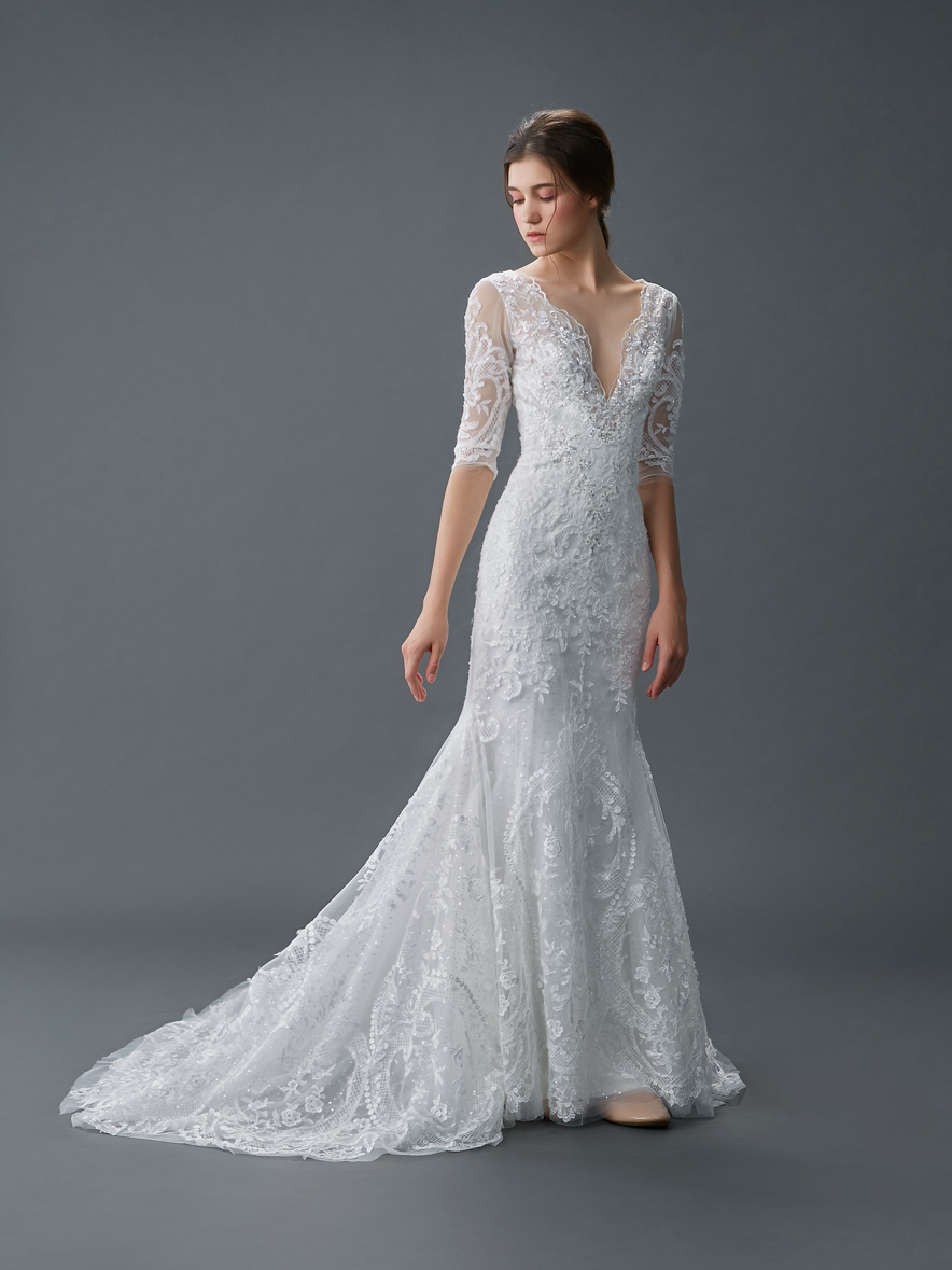 Fit And Flare Gown By Alisha Lace Singapore 3694 The