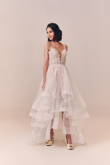 Hi-Low Gown by Luna Bianca Bridal Boutique