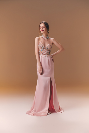 Fit and Flare Gown by Divine Couture