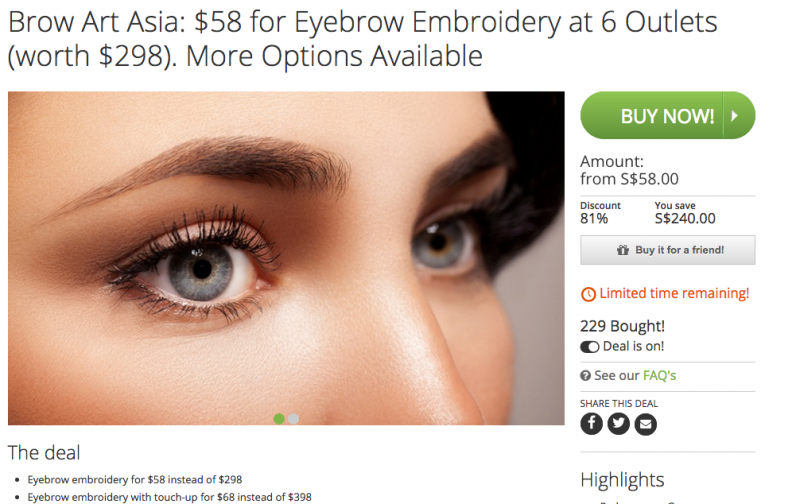 Wts Eyebrow Embroidery At Brow Art Asia 50 Worth 398