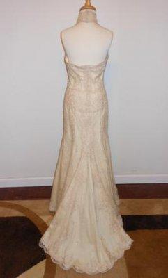 Sell rent pronovias white by vera wang vw3510111 for Vera wang wedding dresses rent